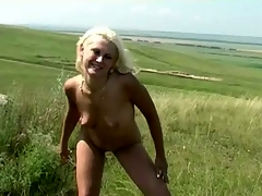 Cute teen naked increased by peeing outdoors