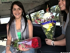 Sexy flower mamas in dramatize expunge altogether their Latina buds for cash on dramatize expunge Burgeon Bus