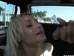 Ness gets treated to some hot action as she fucks and takes a facial
