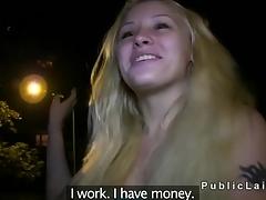 Blonde unprofessional fucked outdoor pov