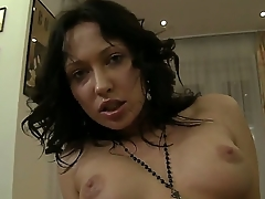 Amateur brunette Raffaella gets Rocco Siffredis dick with the sweet asshole