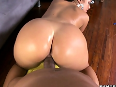 This big black dick fills up a hungry Hungarian brunette hottie
