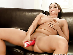Alex and Chanel open their legs legs relating to for each other and have lesbian fun