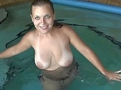 GF with chubby scrumptious tits giving habitual user on cam