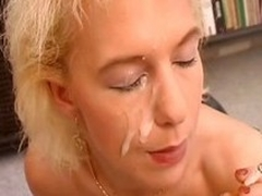 Noxious german MILF connected with a corset rides a unearth to the fullest smoking