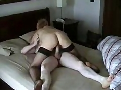 Cheating Blonde Become man Riding BF's Bushwa on Secluded Cam