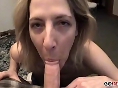 Mature amateur has fun not far from a cock