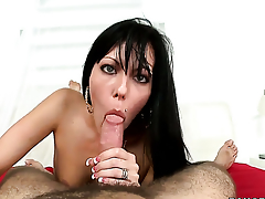 Jade spends her sexual energy around hard tool in action