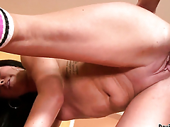 Becky Brielle polishes Jack Lawrences sturdy fuck appertain with her lips