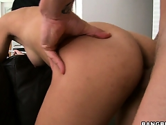 Latina 19 year old Sofia bent over a couch and fucked from behind