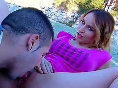 Beautiful teen infant Aleska Diamond is showing more her boyfriend her marvelous asshole, while wearing her sweet underwear and making him tease her circa over.