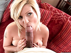Gorgeously sexy babe Chintia Flower makes guys sausage harder with her skillful hands