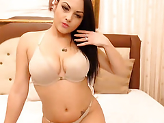 Hot Busty Babe Fucks Hard with her Dildo
