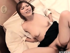 Cute asian hardcore doggy fuck and swallow