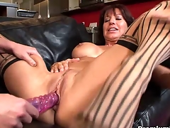 Older lesbian gives toying lesson