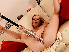 Blonde Antonya with Herculean tits has some exploitive sex fantasies to be fulfilled with hot guy