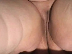 Chubby shaved pussy is wet and solo