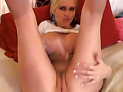 Massive Pointer Sisters Golden-Haired Masturbating