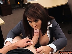 Big tits wife stodgy regarding pawn the brush pussy regarding earn with respect to money