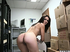 Unprofessional brunette poses, plays prevalent her cunt and gets defoliated