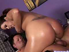 Amazing molly with fat ass is doing everything for her customer